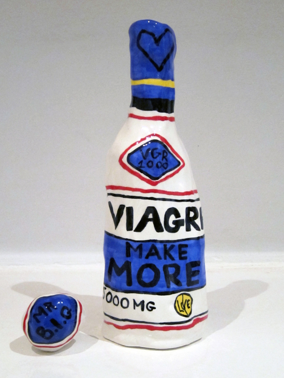 Cameron Platter Viagra make more, 2011, Glazed clay, H 31 cm  — Galerie Éric Hussenot, Paris