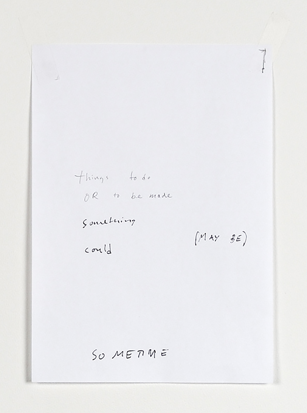 Untitled text (like notes), 2013, détail — Galerie Éric Hussenot, Paris