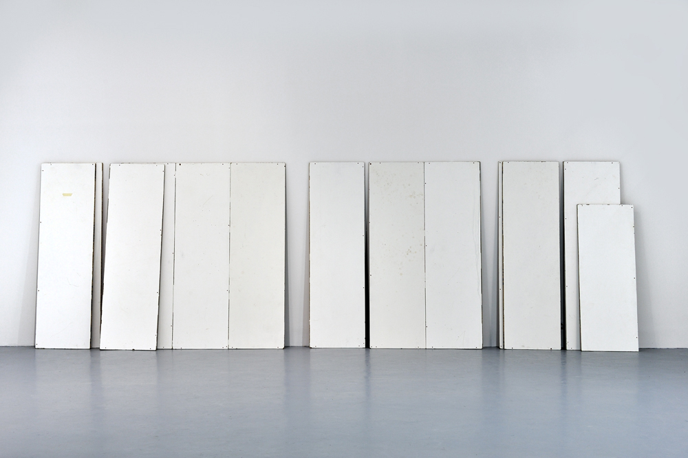 Other activities, 2013, Paint and other materials on chipboard, Dimension variable 