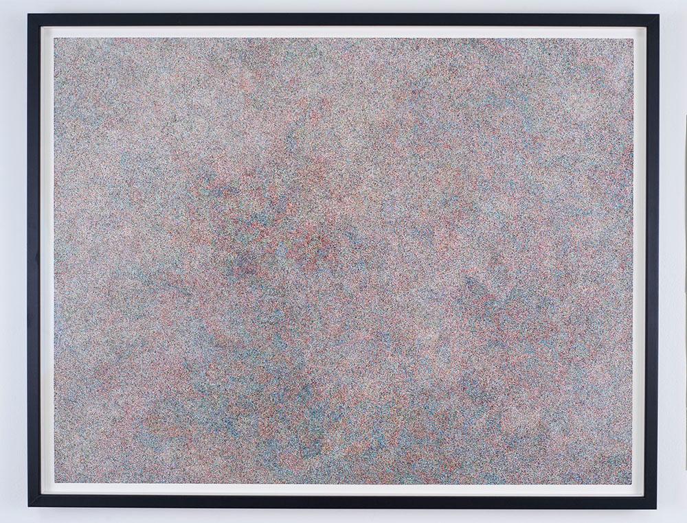 Neige (RVBB) 2014, Pastel sur papier, 55 x 70 x 3 cm   — Galerie Éric Hussenot, Paris