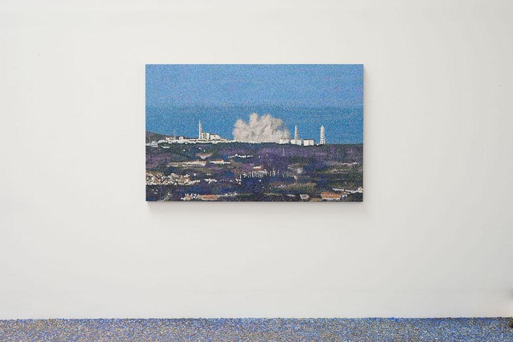 Fukushima 2015, Pastel à l'huile sur bois, 110 x 175 x 4 cm   — Galerie Éric Hussenot, Paris
