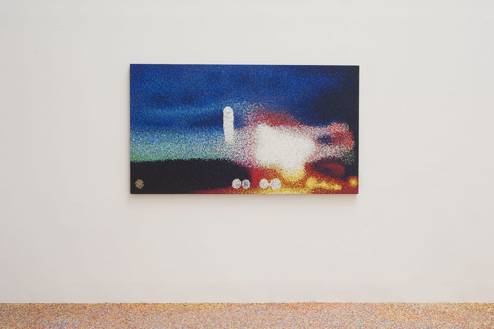 Incerta Alba (14 Juillet) 2015, Pastel à l'huile sur bois, 110 x 195 x 4 cm   — Galerie Éric Hussenot, Paris