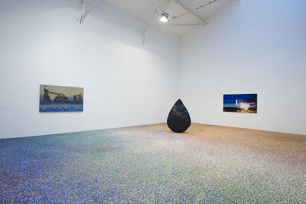 μια ιστορία,  Vue d'installation. Odyssée, 2015, Edition 1 + 1 AP, Stéréo lithographie, 162 x 110 x 32 cm   — Galerie Éric Hussenot, Paris