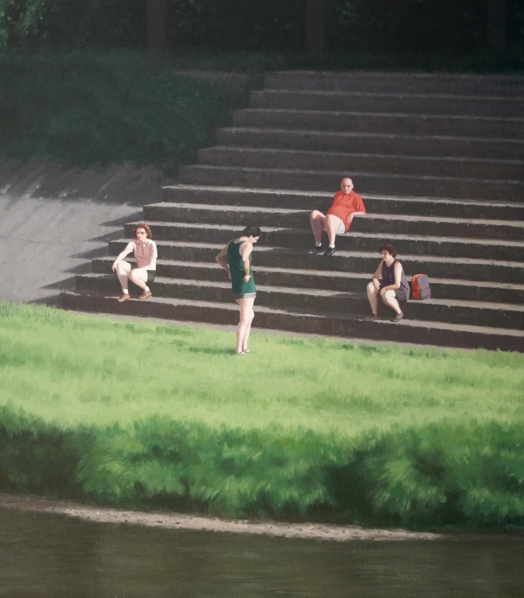 Another Sunday, Serban Savu, 2007, Huile sur toile, 120 x 105 cm   — Galerie Éric Hussenot, Paris