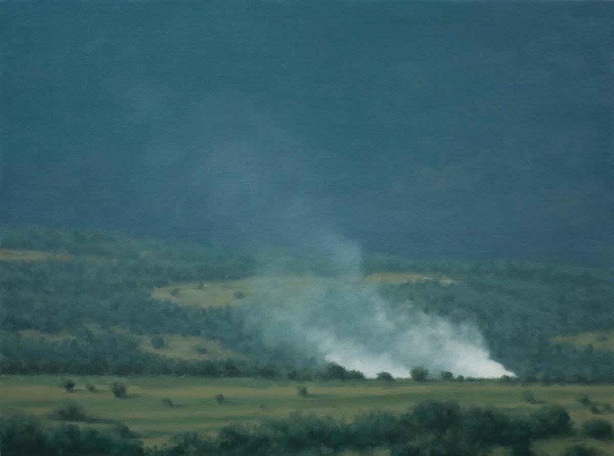 Nostalgia, Serban Savu, 2007, Huile sur toile, 25 x 35 cm   — Galerie Éric Hussenot, Paris