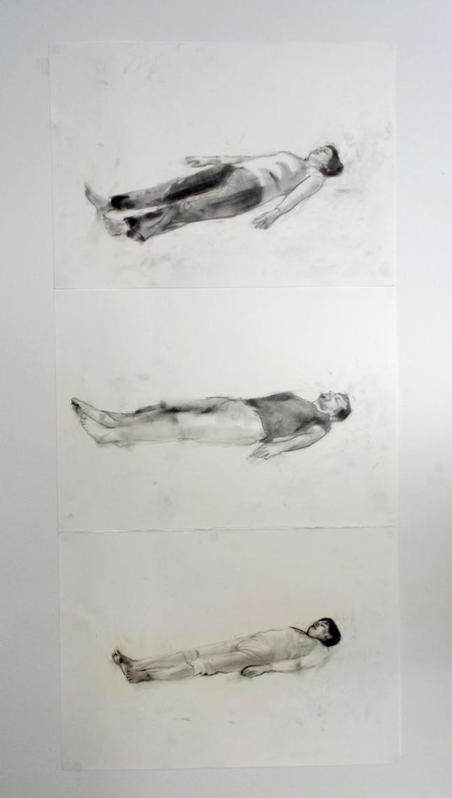 The familly, Ciprian Muresan, 2008, Crayon sur papier, 50 x 35 cm chaque   — Galerie Éric Hussenot, Paris