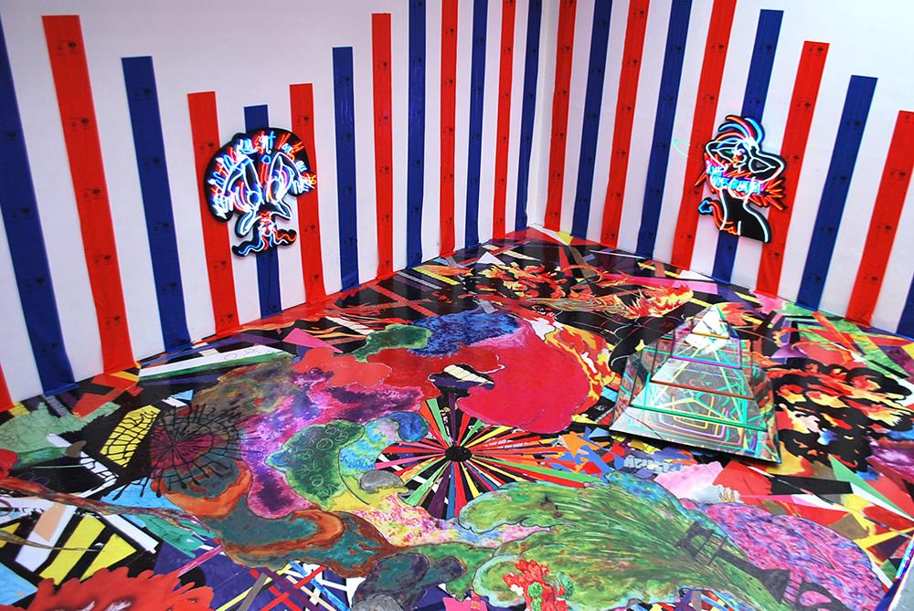 Artistiquement Voué Au Feu, 2010, vue d'installation, galerie Hussenot, Paris — Galerie Éric Hussenot, Paris