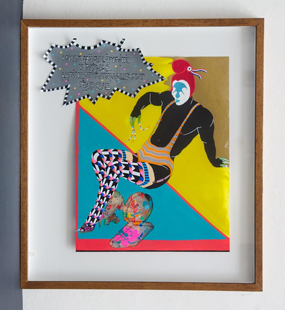 Adopathodiphulatophobie Veritable Anticonstitutionellement Factuelle, 2010, Acetate drawing, 44 x 49 cm   — Galerie Éric Hussenot, Paris