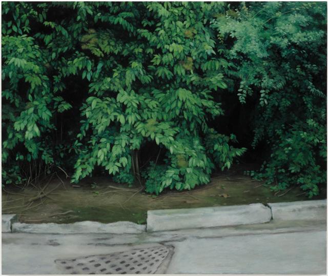 Wonderland,  2008, Humbrol enamel on board, 46 x 55 cm   — Galerie Éric Hussenot, Paris