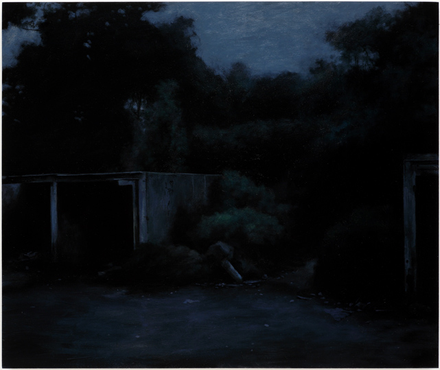 Moonlight Fucking Sonata,  2008, Humbrol enamel on board, 46 x 55 cm — Galerie Éric Hussenot, Paris