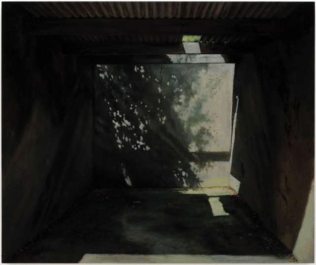 Hiding Place,  2008, Humbrol enamel on board, 46 x 55 cm — Galerie Éric Hussenot, Paris