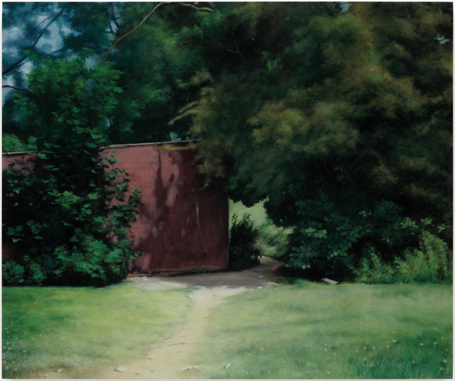 The Old Summer,  2008, Humbrol enamel on board, 46 x 55 cm — Galerie Éric Hussenot, Paris