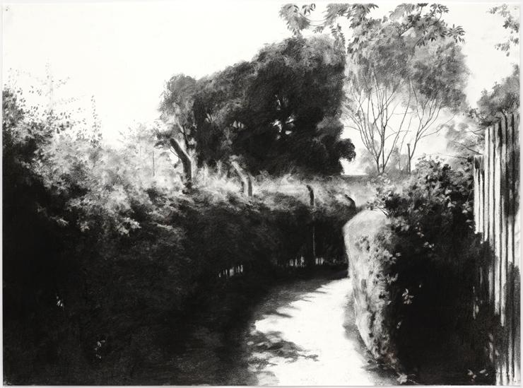 The Gap I,  2008, Charcoal on paper, 56 x 76 cm   — Galerie Éric Hussenot, Paris
