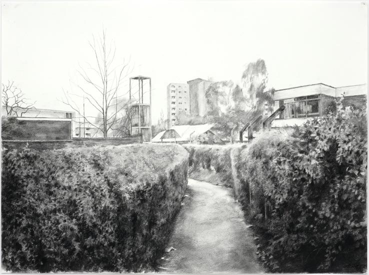 The Gap IV,  2008, Charcoal on paper, 56 x 76 cm — Galerie Éric Hussenot, Paris