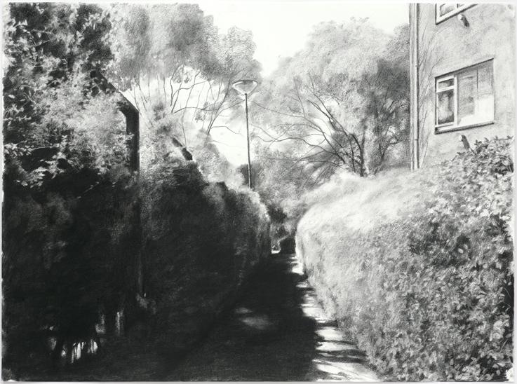 The Gap VI,  2008, Charcoal on paper, 56 x 76 cm — Galerie Éric Hussenot, Paris