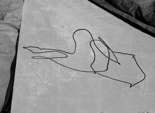 Barney Kulok Untitled (Bent wire),  2012, Edition2/6 + 4AP, Gelatin silver print, 73,7 x 101,6 cm — Galerie Éric Hussenot, Paris