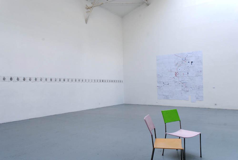 Ciprian Muresan, Vue d'installation — Galerie Éric Hussenot, Paris