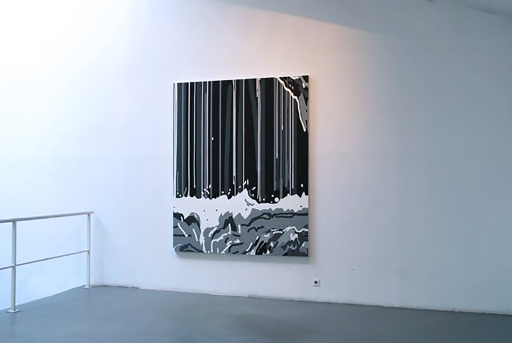 Regard 8, 2009, Oil on canvas, 220 x 180 cm — Galerie Éric Hussenot, Paris
