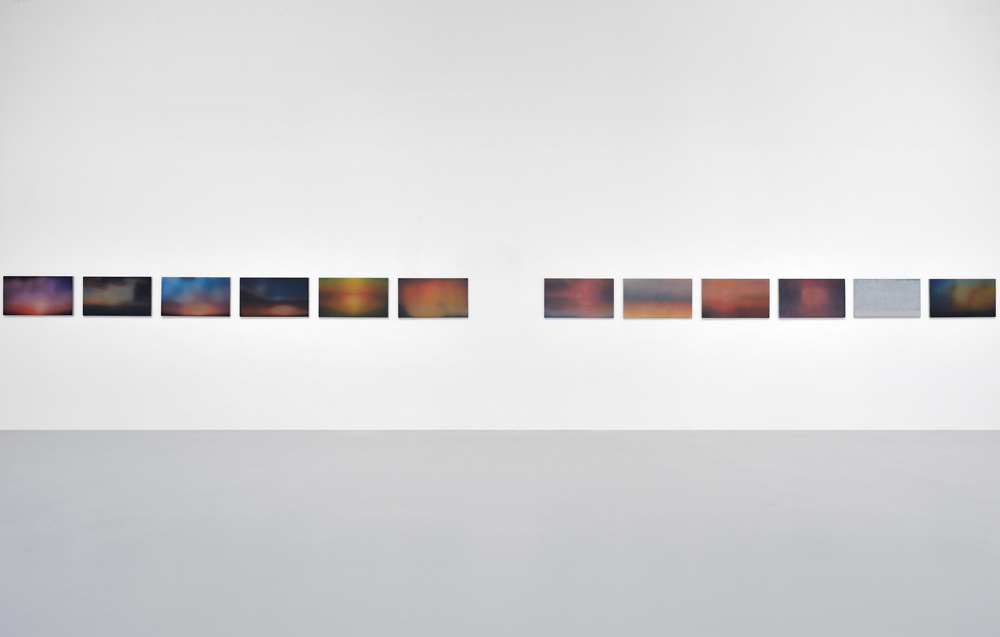 La fin et le lever du jour, Vue d'installation, Eric Hussenot, Paris. 
