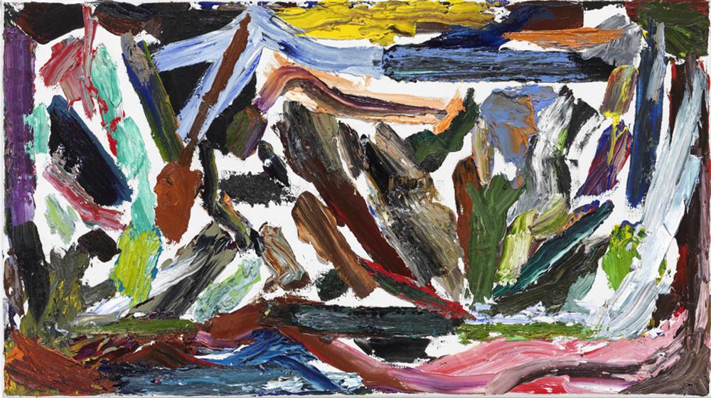 Natur B13,  2013, Oil on canvas, 35 x 80 cm — Galerie Éric Hussenot, Paris