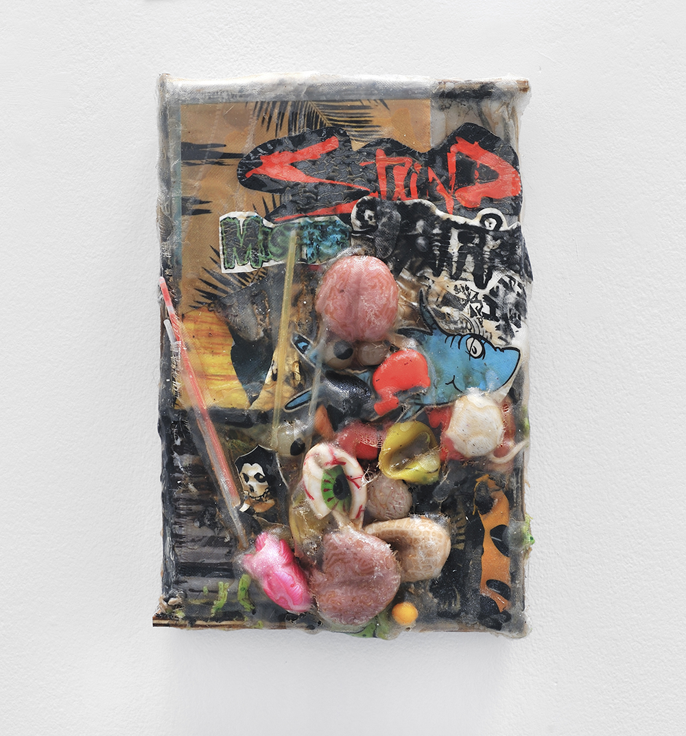 Misfits, 2013, Mixed media on plastic, 31 x 46 x 10 cm 