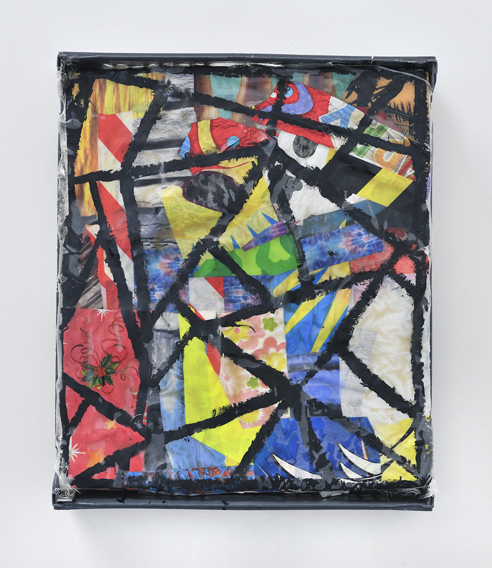 Detroit, 2013, Mixed media on plastic, 54 x 65 x 10 cm 