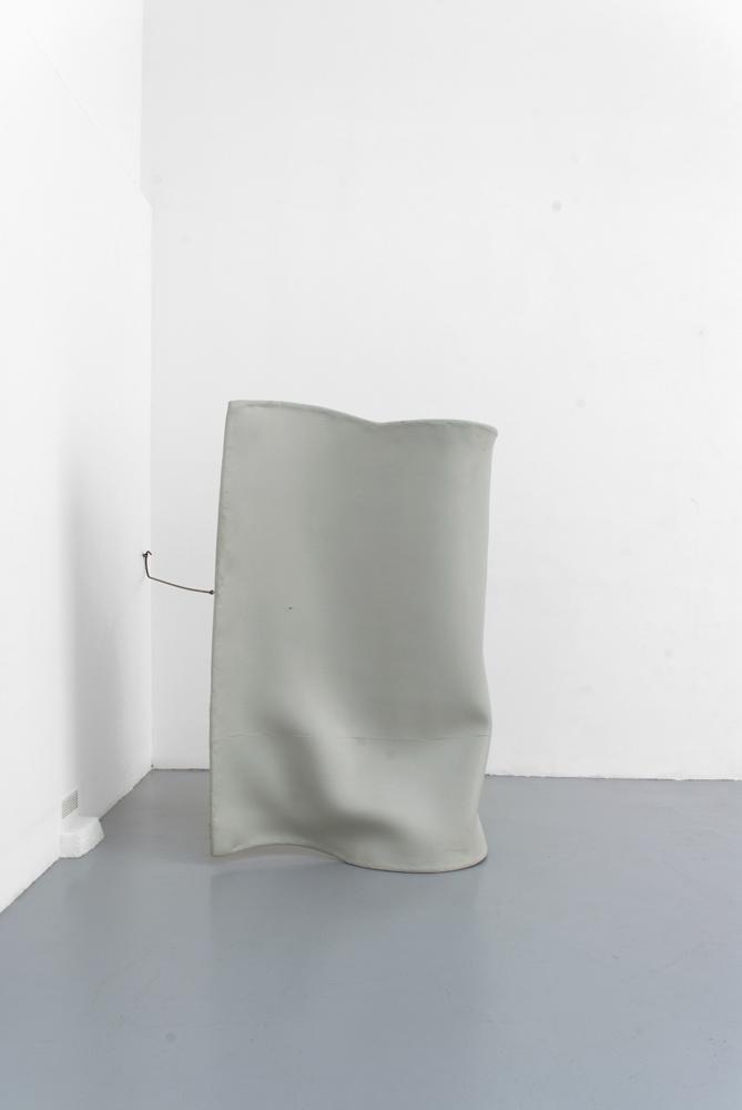 Untitled, Olga Balema, 2013, Foam, latex, steel, pigment,   195 x 125 x 260 cm   — Galerie Éric Hussenot, Paris