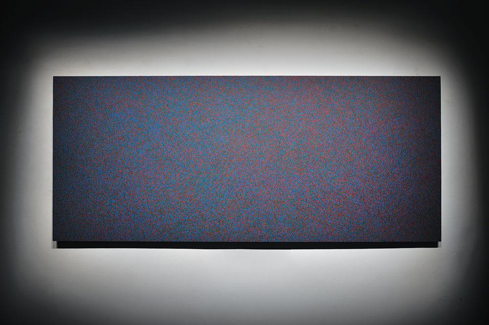 Neige RVB, 2012, Pastel à l'huile sur bois, 245 x 105 cm   — Galerie Éric Hussenot, Paris