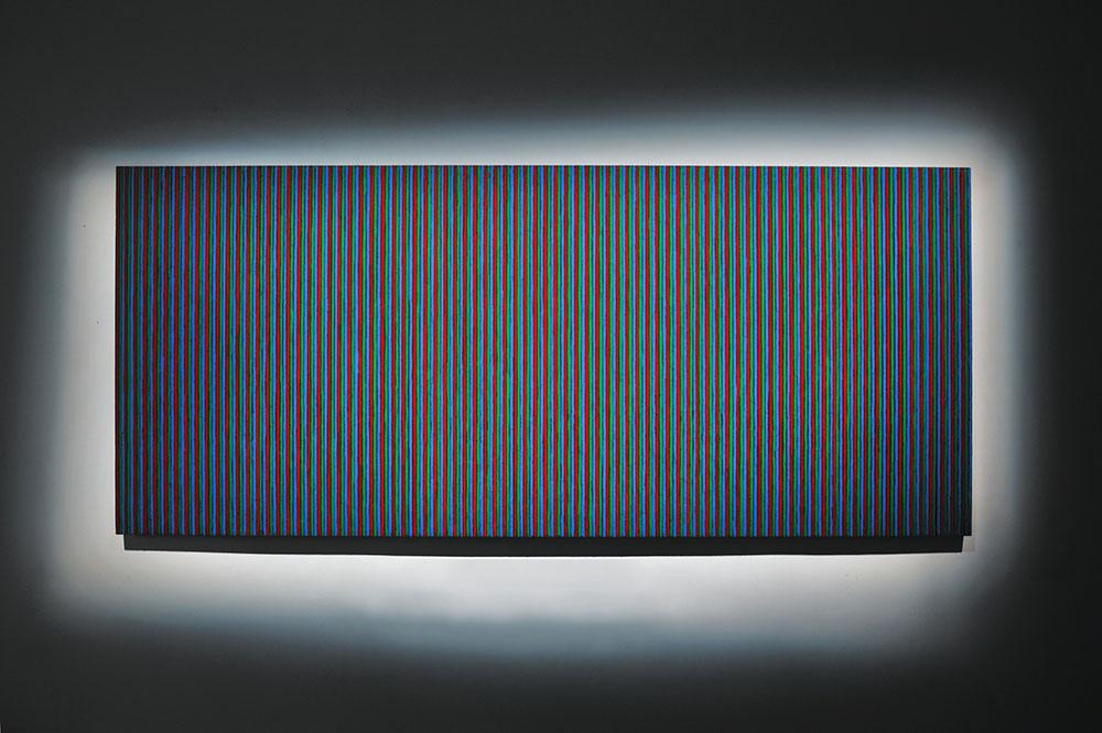 Sans titre 2012, Pastel à l'huile sur bois, 245 x 105 cm   — Galerie Éric Hussenot, Paris