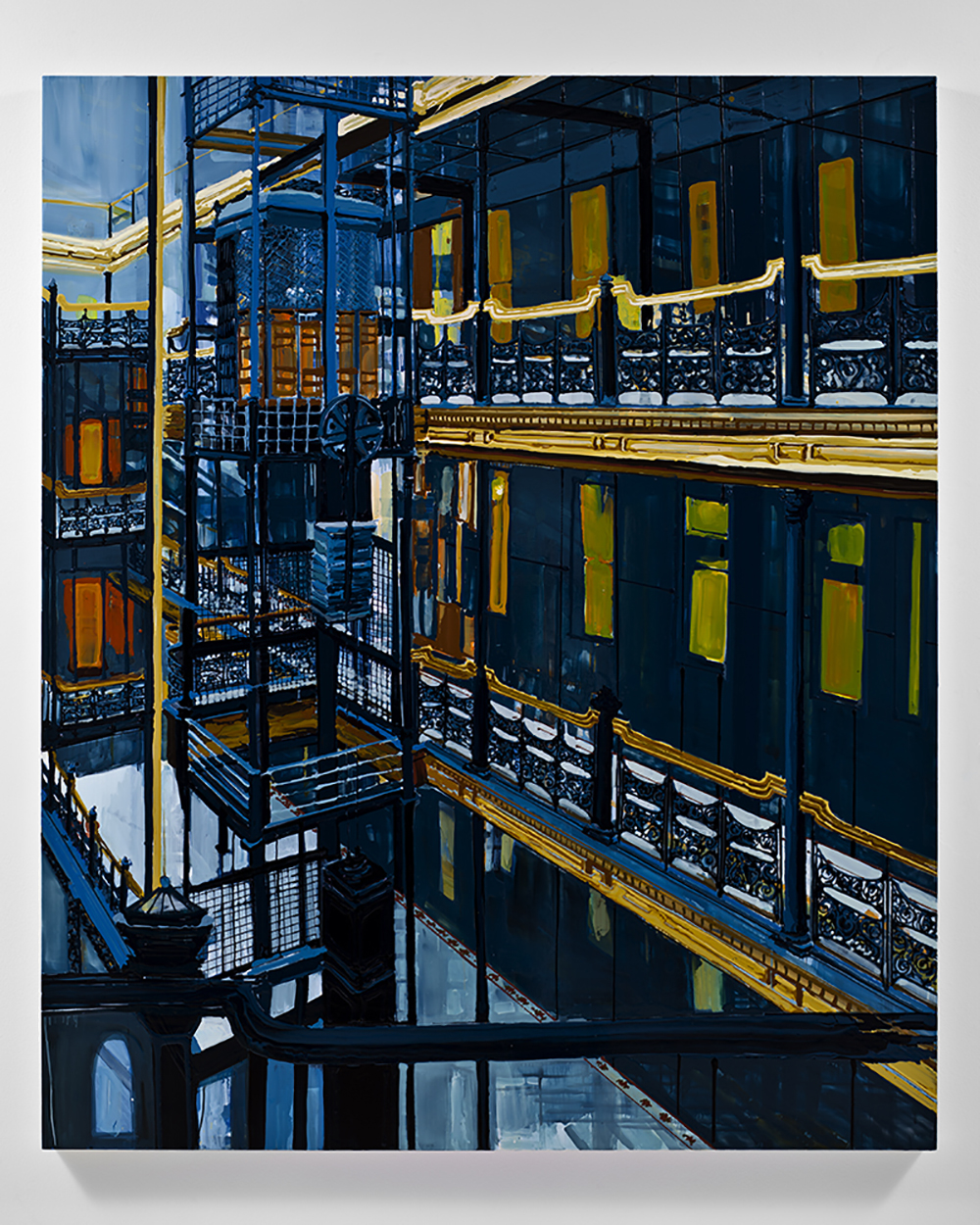 Los Angeles 2015, 2011, Oil and enamel on wood panel,  