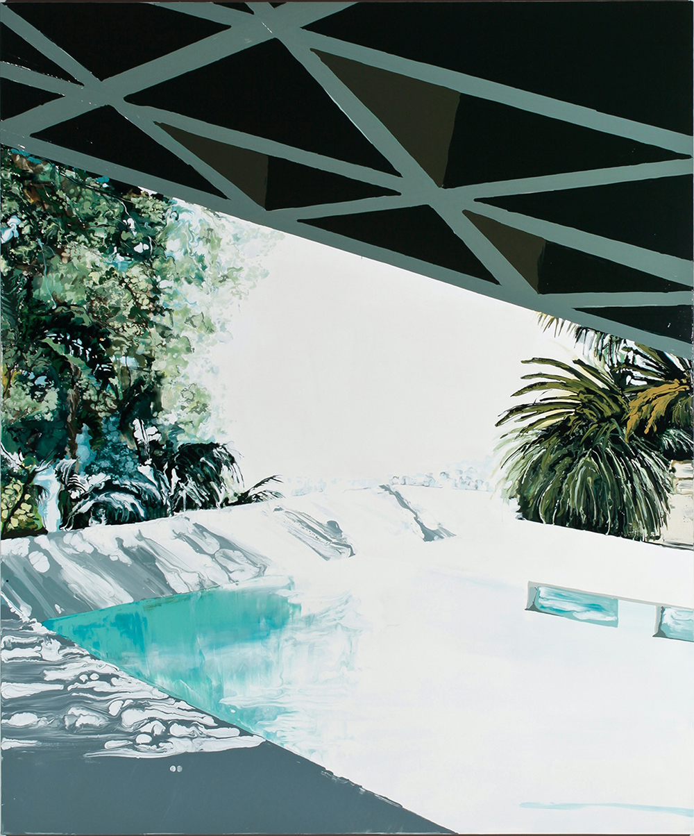 Pool, 2011, Oil and enamel on wood panel,  