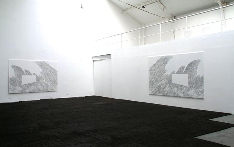 A la recherche des restes de la mission Crevaux (prologue),  2008 , Feutre sur aluminium, 295 x 196 x 2 cm — Galerie Éric Hussenot, Paris