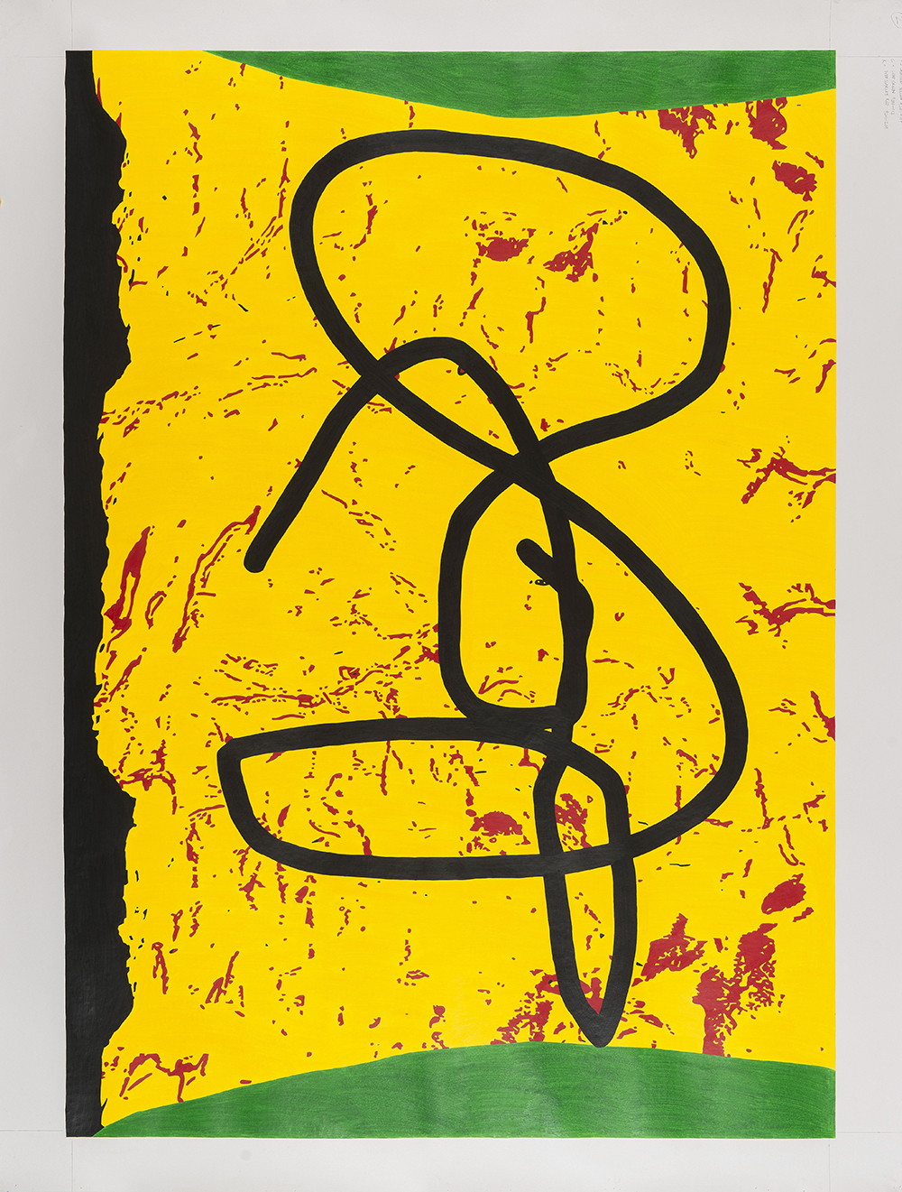 Yellow Face, 2014, Pencil on paper, 180 x 125 cm 