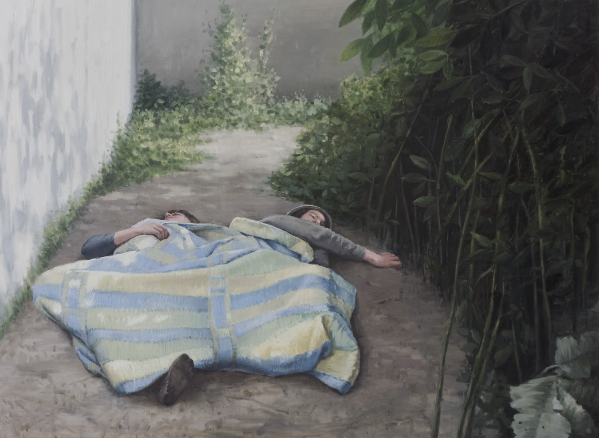 Sleep without dreams, 2009, Huile sur toile, 180 x 132 cm 