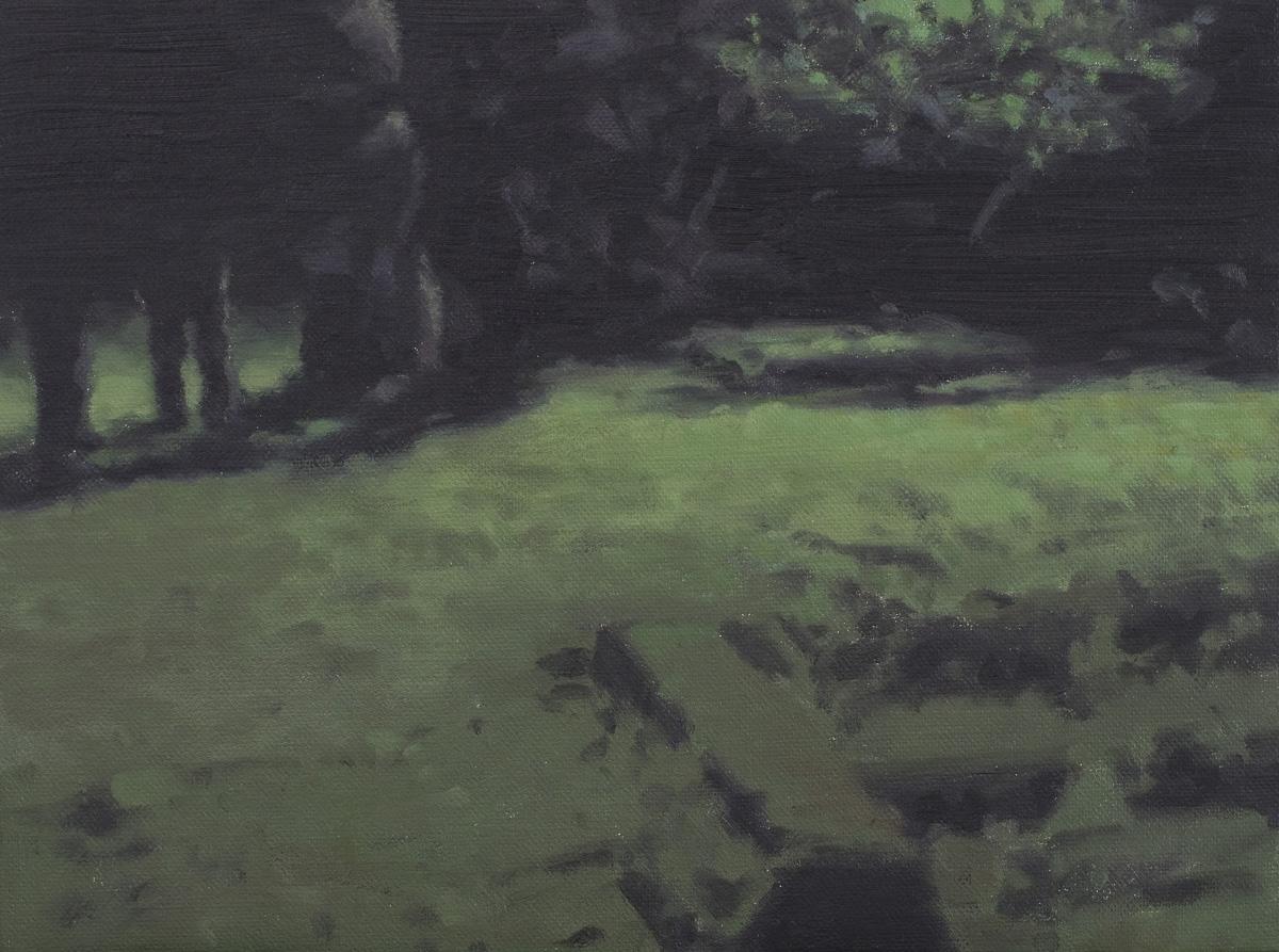 Green night, 2010, Huile sur toile, 30 x 40 cm   — Galerie Éric Hussenot, Paris