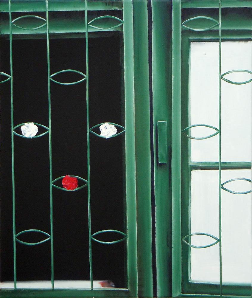 Simply a Fance #3, 2011, Oil on canvas, 65 x 55 cm      — Galerie Éric Hussenot, Paris