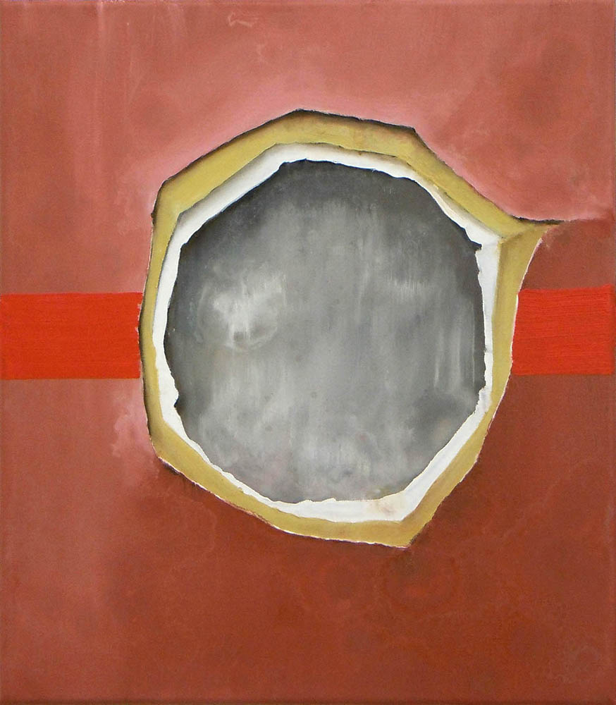 Something, 2011, Oil on canvas, 40 x 35 cm 	 
