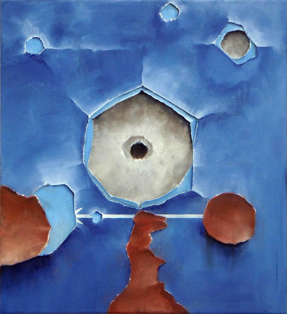 The Psyche, 2011, Oil on canvas, 55 x 50 cm     — Galerie Éric Hussenot, Paris