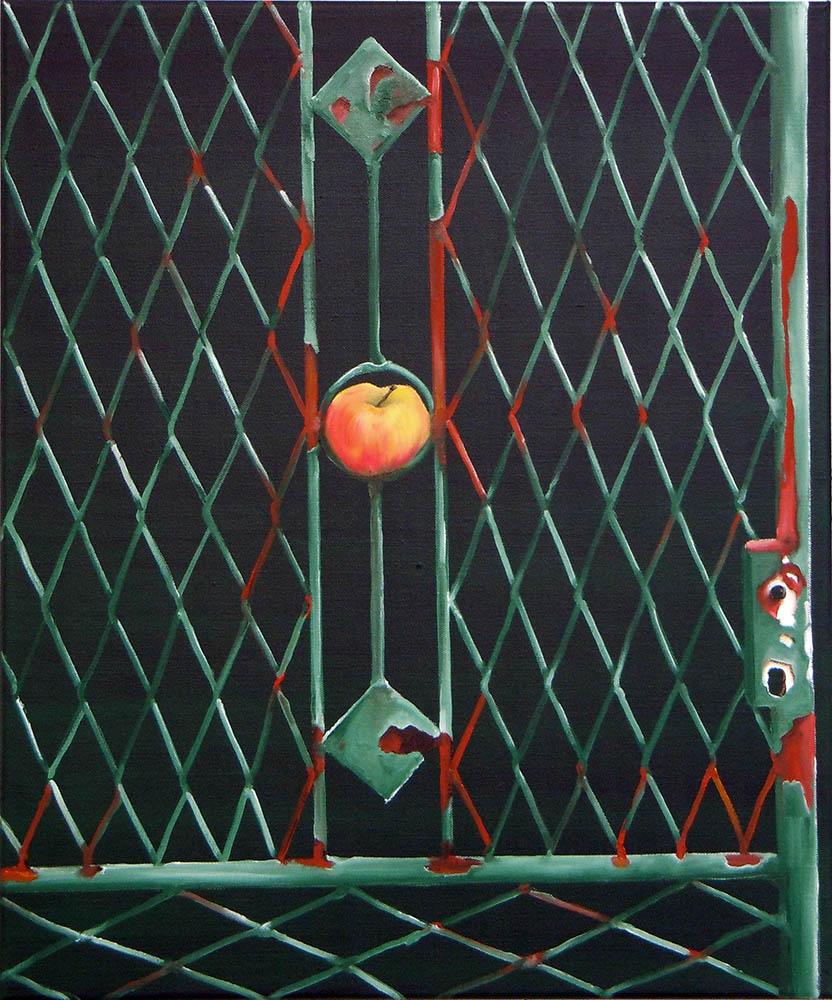 Simply a Fance #4, 2011,Oil on canvas, 60 x 50 cm    — Galerie Éric Hussenot, Paris