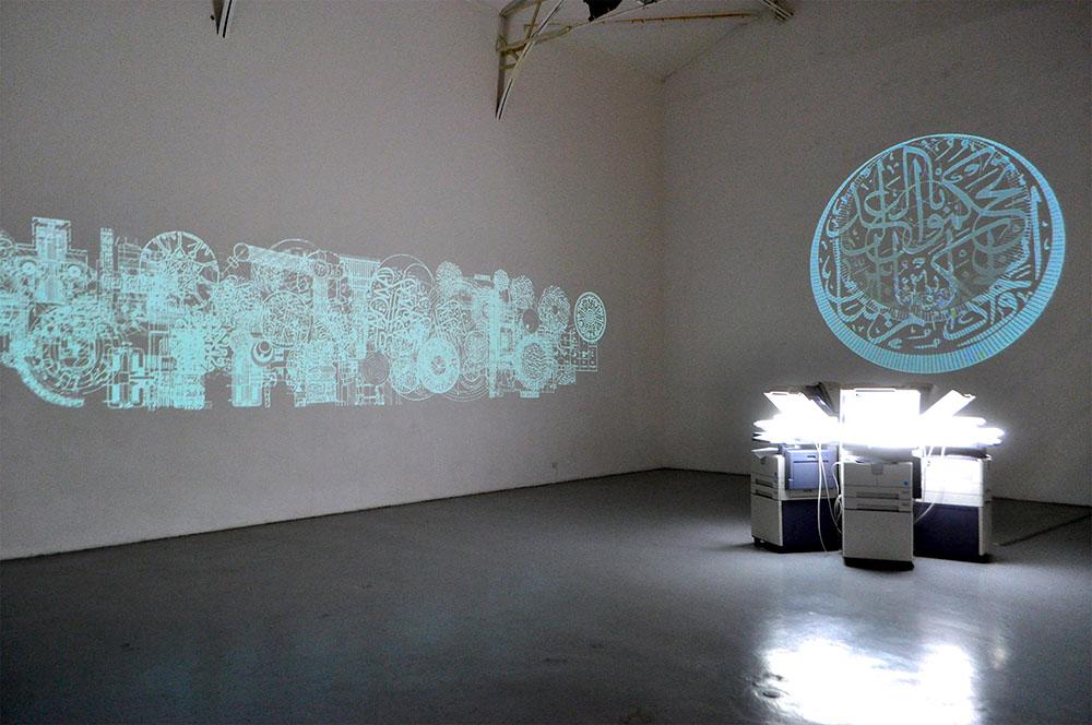 Between the lines, 2011, vue d'installation, galerie Hussenot, Paris. — Galerie Éric Hussenot, Paris