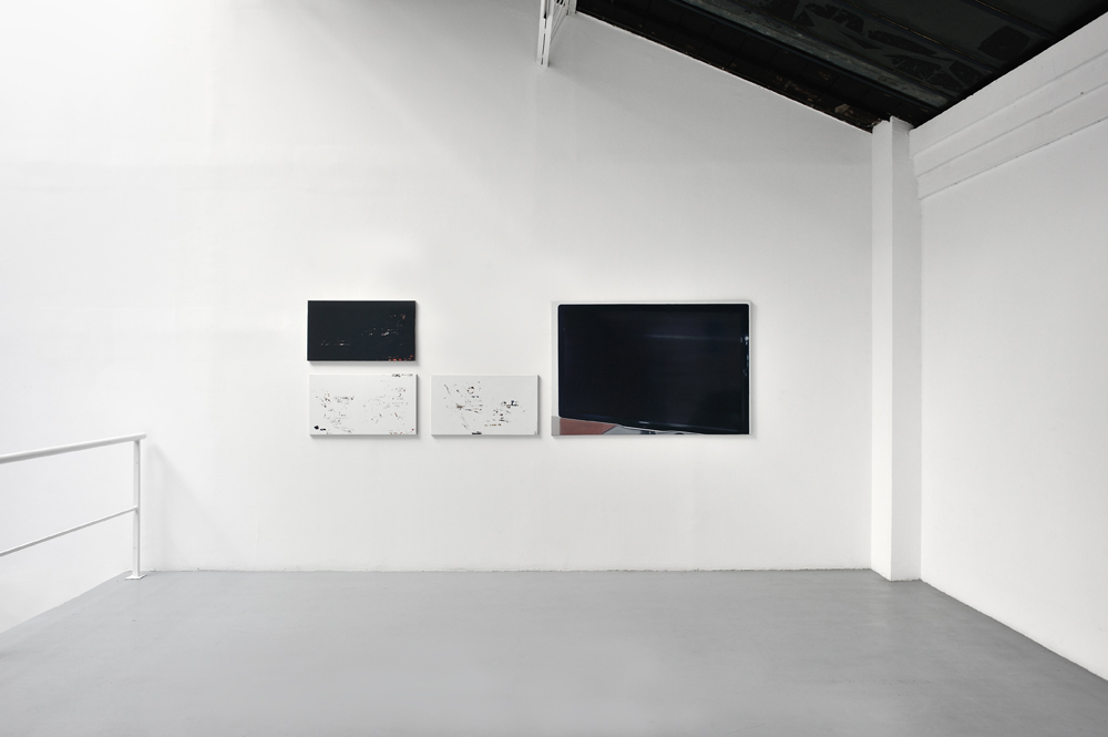 Flatscreen, B12, 2012, Series of 4, Oil on canvas, 45 x 80 cm /  