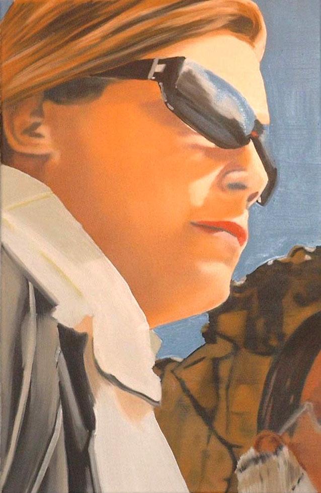 Eberhard Havekost B.f.P., 2004, Huile sur toile, 60 x 40 cm — Galerie Éric Hussenot, Paris