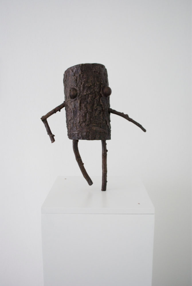 Jon Pylypchuk Dance on, you drunk prick, 2011, Bronze, Unique piece,  45 x 40 x 20 cm 