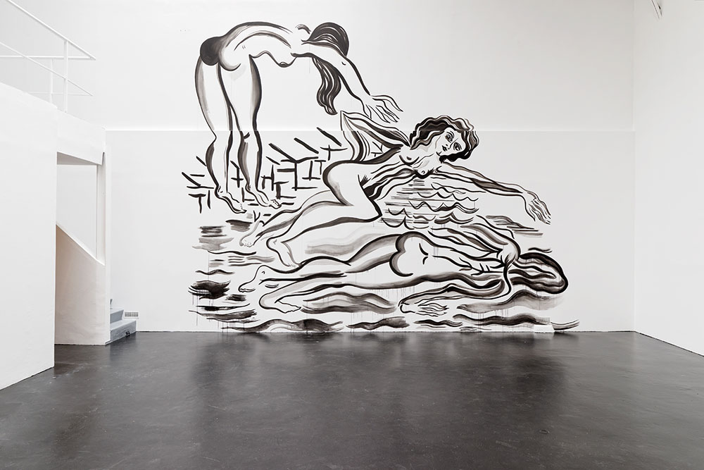 Want Position // Red, Mira Dancy, 2015, Wall painting, 670 x 450 cm — Galerie Éric Hussenot, Paris