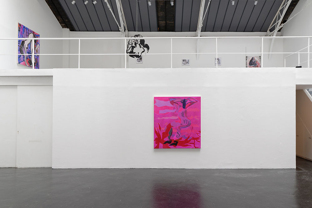 Want Position // Red, Mira Dancy, Vue d'installation, Eric Hussenot, Paris — Galerie Éric Hussenot, Paris