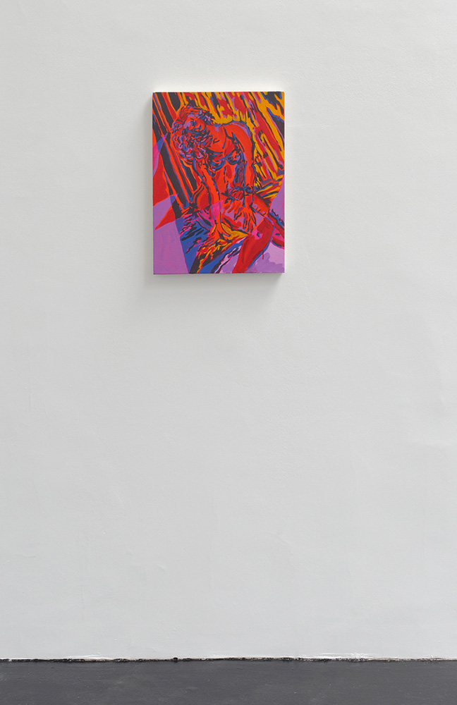 Red Angel, Mira Dancy, 2015, acrylic on canvas, 55,9 x 40,6 cm — Galerie Éric Hussenot, Paris