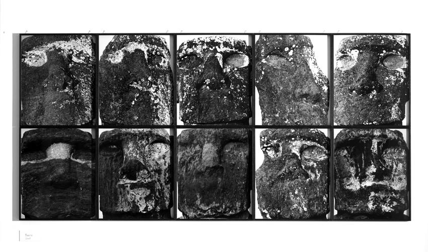 Pâques, Martin d'Orgeval, 2005, Edition de 3 + 2 AP, dix photographies noir et blanc, 123 x 258 cm   (chaque cadre 61,5 x 51,5 cm) — Galerie Éric Hussenot, Paris