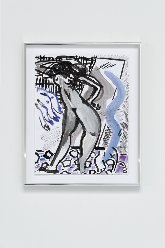 Mira Dancy Mirror Mirror, 2015, Ink, acrylic on paper, 27,9 x 35,6 cm — Galerie Éric Hussenot, Paris