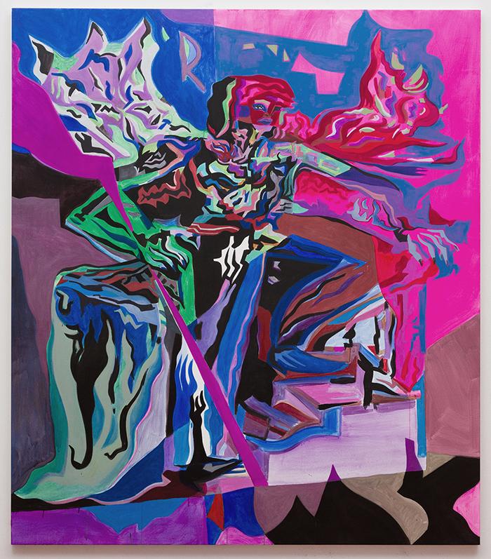 Mira Dancy Reformer, Mira Dancy, 2017, Acrylic on canvas, 203,20 × 177,80 cm — Galerie Éric Hussenot, Paris