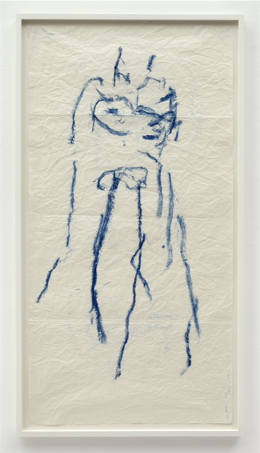 Body Drawing, Joan Jonas, 2013, Oilstick on paper, 137 x 69 cm 